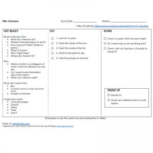 Diorama Get Ready Do Done Strategy - 1 page